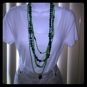 Jewelry - Bead Necklace and Earrings Set